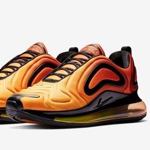 RARE Nike Size 14 AIR MAX 720 Total Orange Black